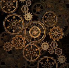 Steam punk gears background