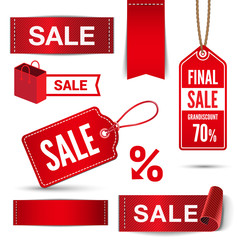 Christmas Sale banners, badges, stickers, labels vector