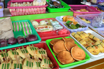 Marché indonésien, desserts