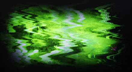 Green interlaced tv static noise