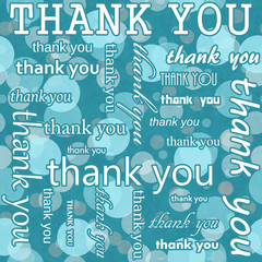 Thank You Design with Teal Polka Dot Tile Pattern Repeat Backgro