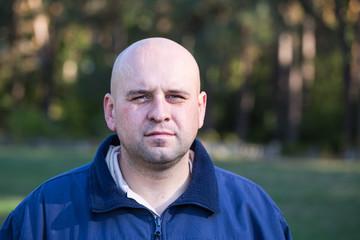 Man of Ukrainian nationality. Closeup.