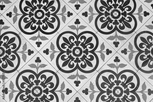 Quot Black And White Vintage Floor Tile Quot Stock Photo And