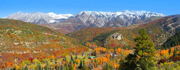 Autumn landscape near Kebler pass in Colorado