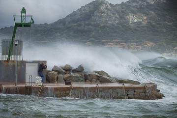 Tempête en bord de mer-Corse