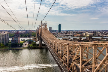 Roosevelt island and Ed Koch Queensboro bridge view from rooseve