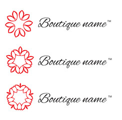 Logo design for Boutique and Flower company. Floral monogram