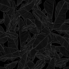 tropical darck seamless pattern, trendy fabric design