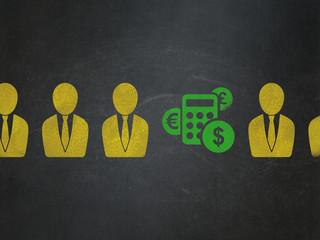 Business concept: calculator icon on School Board background