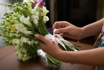 Keuken foto achterwand Bonsai There is nice wedding bouquet