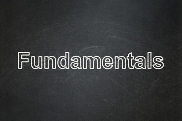 Science concept: Fundamentals on chalkboard background