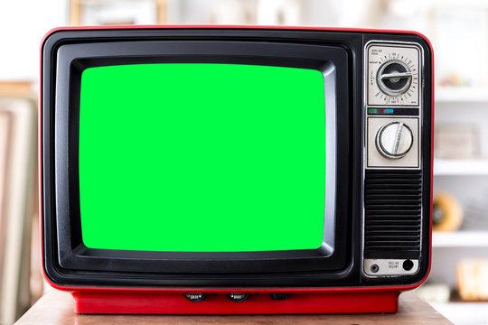 Vintage Red Television