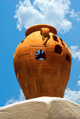 Traditional Greek ceramic pottery decoration