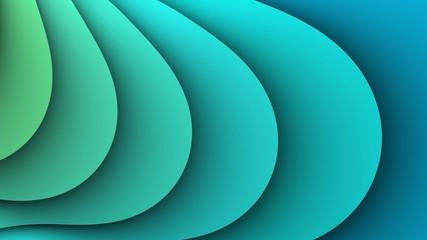 Eenvoudige abstracte turquoise golven achtergrond