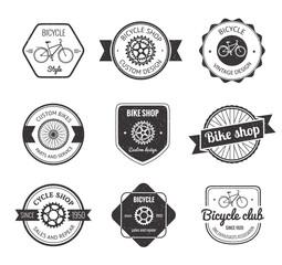 Set of  bicycle shop logo