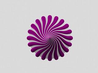 Circular 3D flower logo