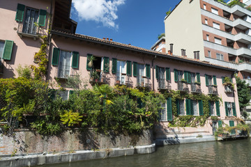 Milan (Italy): canal of Martesana