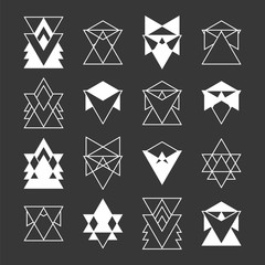 Set of trendy geometric shapes. Religion, philosophy, spirituali