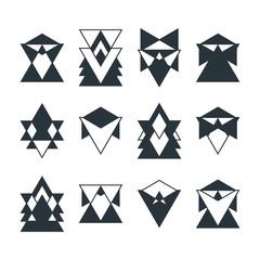 Set of trendy geometric shapes. Religion, philosophy, spirituali