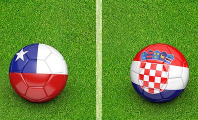 Team balls for Chile vs Croatia soccer tournament match