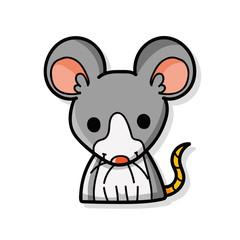Chinese Zodiac rat doodle
