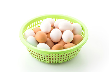 egg in plastic basket