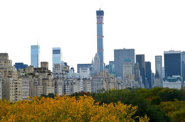 Central Park in the autumn. Manhattan, New York