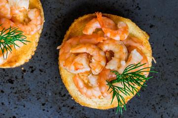 Tapas appetizers shrimp