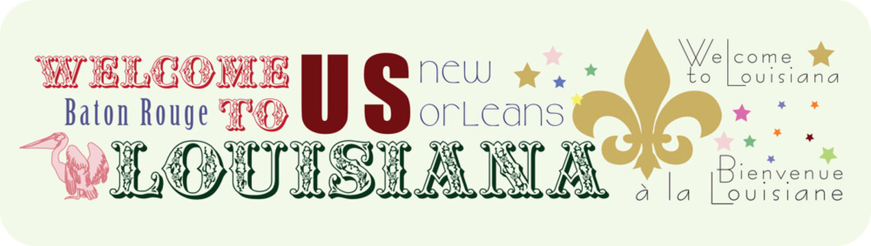 Sticker Welcome to Louisiana