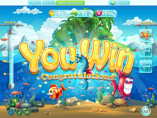 Fish world example screen you won