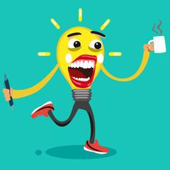 idea light bulb cartoon