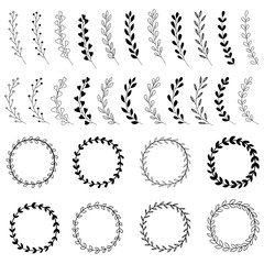 Hand Drawn Wreath Designs
