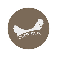 chicken steak logo icon