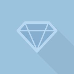 diamond flat style with long shadow
