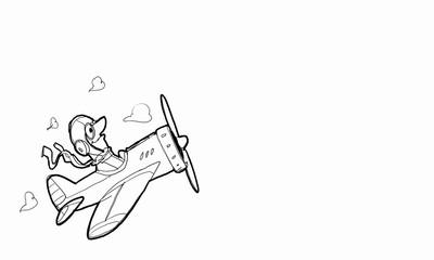 Pilot cartoon