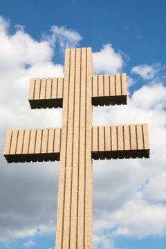 croix de lorraine au Mémorial Charles de Gaulle, Colombey les deux églises, Haute Marne, Champagne Ardennes, France