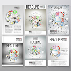 Business vector templates, brochure, flyer or booklet. Team