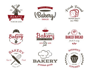 Set of bakery labels, icons, badges and design elements, symbols