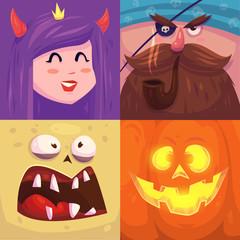 Happy halloween. Set of  Halloween characters