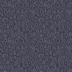 hand drawn locks seamless pattern