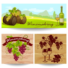 banners with winemaking