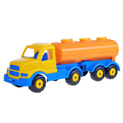 big toy truck on white isolated background