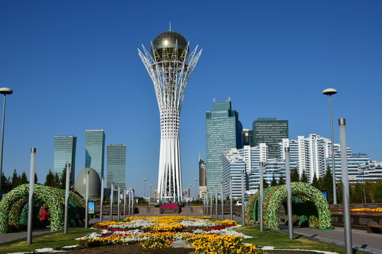 View on Baiterek in Astana, Kazakhstan