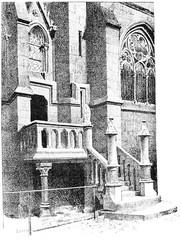 Notre Dame, Stairs vestries, vintage engraving.