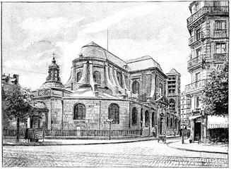 The apse of St. Nicolas du Chardonnet on the Boulevard Saint-Ger