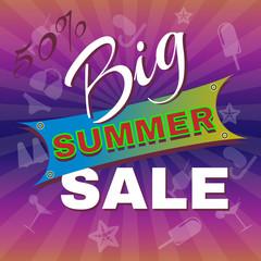 Big Summer Sale Promotion Flyer.
