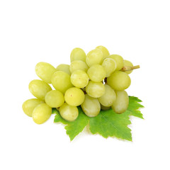 Green grape and Red grape isolated on white background (Fruit)