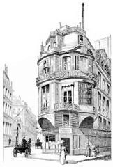 Rue La Vrilliere, vintage engraving.