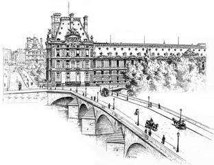 The Pavillon de Marsan, the Pavillon de Flore and the Pont Royal