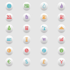 Buisiness colorful icons set.